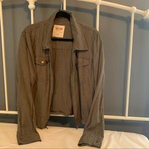 Grey Fall Zip Jacket